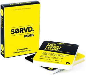 Servd His & Hers The Hobby Hater Card, Real Life Couples Card Game