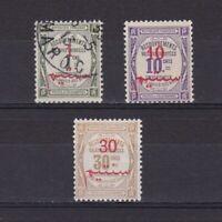 FRENCH MOROCCO 1911, Sc# J13-J15, CV $23, part set, postage due, Used