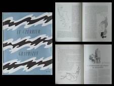 LE COURRIER GRAPHIQUE, n°74, 1954, HENRI LAURENS, MARCEL GROMAIRE, TYPOGRAPHIE