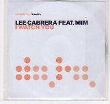 (EC70) Lee Cabrera ft Mim, I Watch You - 2005 DJ CD