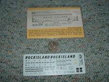 Miller Herald King  decals HO H-549 Rock Island grey PS 3 bay cov hopper  E83