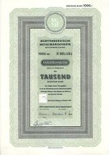 WMF Württembergische Metallwarenfabrik 1000DM VZ Geislingen Steige 1957