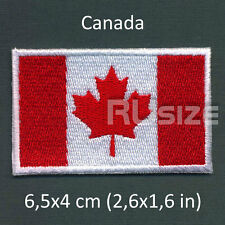 CANADA Country Flag Embroidered PATCH 6,5х4cm For sewn/ironed on Badge Chevron