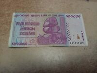6X ZIMBABWE 500 MILLION 2008 AA SERIES ONLY 100/% GENUINE TRILLIONS IN STORE