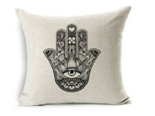 Hamsa Cushion Cover Hand Evil Eye Protection Hand of Fatima Jewish Kabbalah