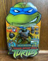 Fightin Gear Leo TMNT Teenage Mutant Ninja Turtles Figure New 2004 Leonardo