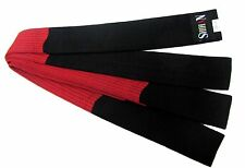 HAPKIDO Martial Arts Belt BLACK/RED Block Rank Belt 320cm 100% Cotton