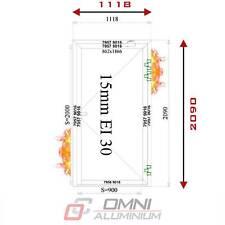 Brandschutz Aluminiumtüre T30 Brandschutztür Rauchdicht Anschlagdichtung Tür