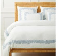 Set! New $754 Serena & Lily Westport King Duvet Cover & (2) shams! Coastal Blue