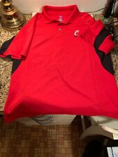 University Of Cincinnati Polo Shirt Size M Embroidered Ncaa Big East Ventilated