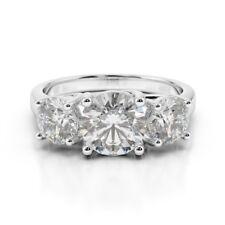 2.00 Ct VVS1 Round Cut Diamond Engagement Wedding Ring 925 Sterling Silver Rings