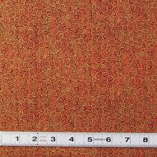 Lot G603 - TIVOLI SCROLL in Xmas Red by Makower -Patchwork Fabric by the ½ metre