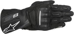 Alpinestars SP-8 V2 Leather Motorcycle Gloves (Black/Grey) Choose Size