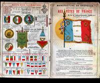 AUX FETES DE FRANCE (PARIS IX°) USINE de DRAPEAUX & ARTICLES de FETE / CATALOGUE