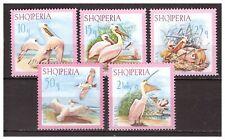 27098) ALBANIA  MNH** 1967 Pelicans 5v