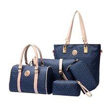 5/Set  Damen PU Leder Handtaschen Umhängetasche Schultertasche Geldtasche VS