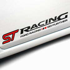 "A Set Car Body Side Skirts PVC Stickers Decals For Black RACING ST 19.69"" Decals"