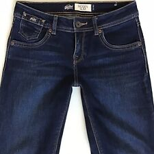 Ladies Womens SuperDry Imogen Stretch Slim Blue Jeans W26 L30 UK Size 6 (hj324)