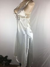Flora  Nightgown Ivory Satin Wedding Bride Lingerie Sexy Size Medium