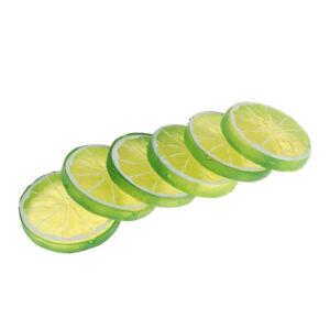 6Pcs/Set Artificial Fruit Christmas Decoration Cheap Fake Plants Lemon SliceHCA