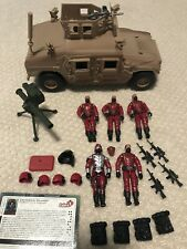 Gi Joe Cobra CG Army Builder Lot Crimson Guard Immortal Hummer Vintage Arah Rah