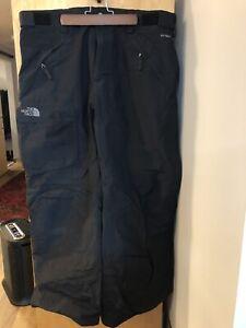 Northface Mens Hyvent Snowboard/ski Pants Sz L Black Waterproof