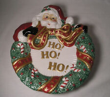 Christmas Wall Decor Santa Ho Ho Ho by Fitz & Floyd Cookie Serving Plate Tray