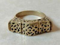 Very Stunning Ancient Viking Bronze Ring-Rare Type-Museum Quality Artifact