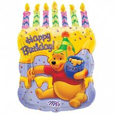 """WINNIE THE POOH BALLOON 23"""" CAKE WITH CANDLES PARTY SUPPLIES ANAGRAM BALLOON"""