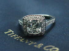 Tiffany & Co Platino Herencia Anillo de Compromiso Diamante 1.82CT 42Ct E-VVS1