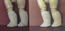 4-VERSIONS ANTIQUE FRENCH-GERMAN CHILD DOLL KNIT SOCKS/STOCKING VARIETY PATTERN