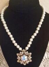 "Heidi Daus ""Snowflower"" 17"" Aurora Borealis Necklace $130 Retail New With Tag"