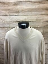 New Cutter & Buck Sweater V-Neck Green Mens 3X Big Light Beige NWT $105