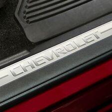 GM 23114164 Black Door Sill Plates Fits14-15 Silverado 1500 2500 3500 HD
