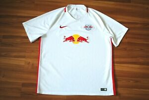 SIZE XXL RB LEIPZIG 2016-2017 HOME FOOTBALL SHIRT SOCCER JERSEY NIKE WHITE COLOR