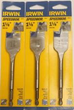 Pack of 4 - Irwin SpeedBor 1-1/8'' Blue-Groove Wood Spade Drill Bit 88818 x