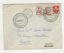 FDC France 3 timbres sur lettre 1959 tampon Paris /L339
