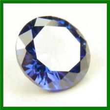 1.00Ct Round Tanzanite Blue My Russian Diamond Simulant Lab Created Loose Stone