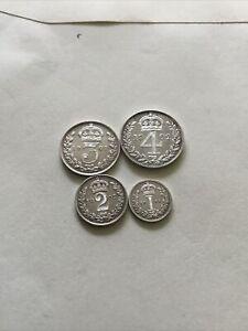 1902 Maundy Edward Vll Full Set E.F Grade Superb Set Coins Comes Boxed