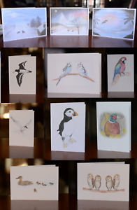 Notecard Set With Envelope Blank Card Watercolour Print Pack Animal Notelet Gift