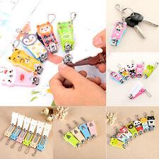 Cartoon Finger Toe Kids Baby Nail Clipper Scissors Trimmer Cutter Keychain  pro