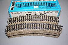 Märklin 5100 10 Stück gebogenes Gleis M-Gleis Spur H0 OVP