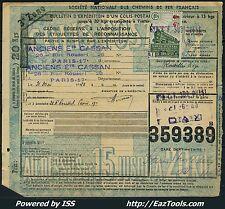 FRANCE COLIS POSTAUX N° 206 SUR BULLETIN D'EXPEDITION DU 31/05/1943