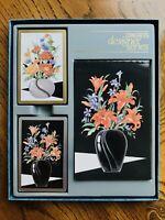 NIB CONGRESS DESIGNER SERIES Floral Bridge Set (2 Decks) U.S. Playing Card Co.