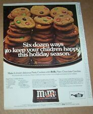 1973 print ad - M&M's chocolate candies candy Party Cookies recipe vintage AD