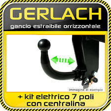 Renault Clio III 2005-2012 gancio di traino estraibile orrizzontale + kit 7