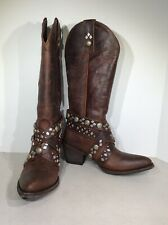 Old Gringo Caryl Rust Women 6.5B Brown Distressed Leather Cowgirl Boots X1-565