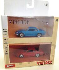 ALPINE RENAULT BLEUE + ALPINE RENAULT ROUGE: coffret de 2 voitures échelle 1:43