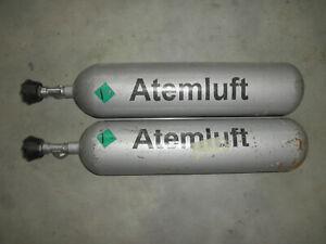 2 St. 4 Liter 200 Bar Auer Atemluftflasche Sauerstoffflasche Tauch Ersatzflasche