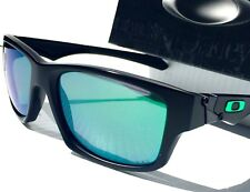 NEW* Oakley JUPITER Squared BLACK Polished w JADE IRIDIUM Lens Sunglass 9135-05